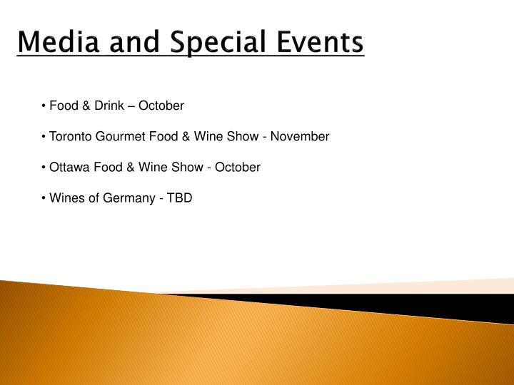 Media and Special Events