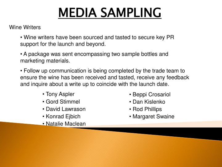 MEDIA SAMPLING