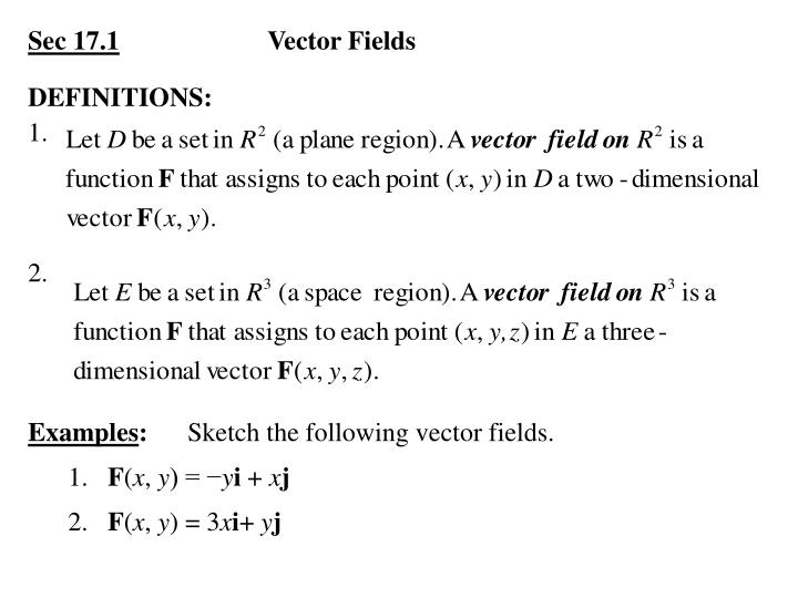 Sec 17 1 vector fields