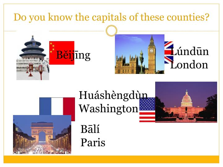 Do you know the capitals of these counties?