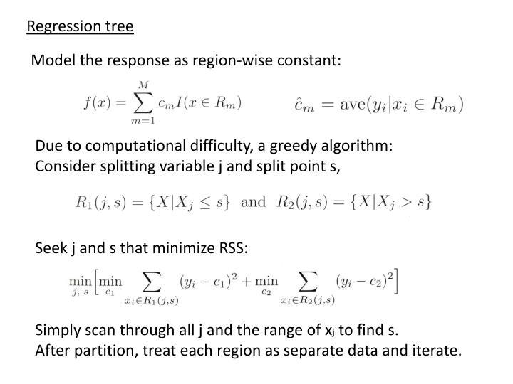 Regression tree