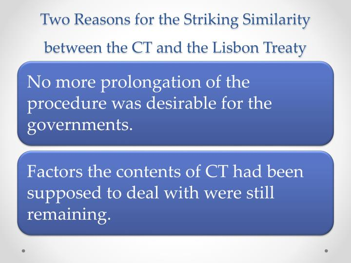ca essay on lisbon treaty finished Treaty of lisbon amending the treaty on european union and the treaty establishing the european community [2007] oj c306/01 secondary legislation from the eu comes in a variety of forms including regulations, directives and decisions.