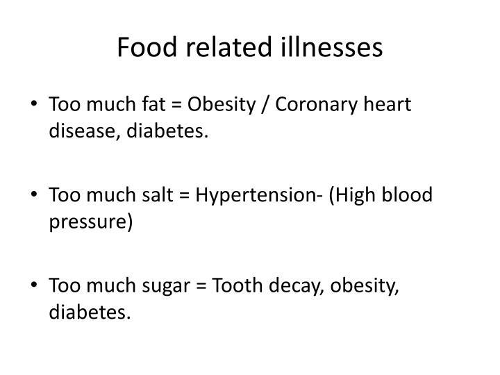 Food related illnesses