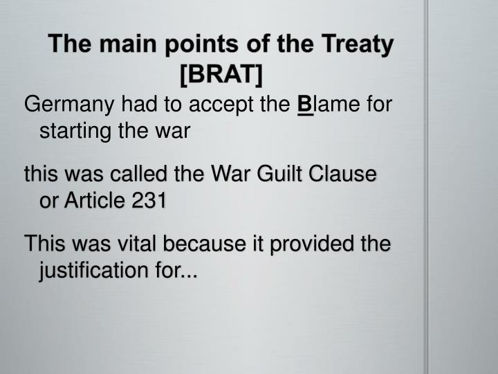 justification of the treaty of versailles