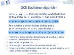 gcd euclidean algorithm1