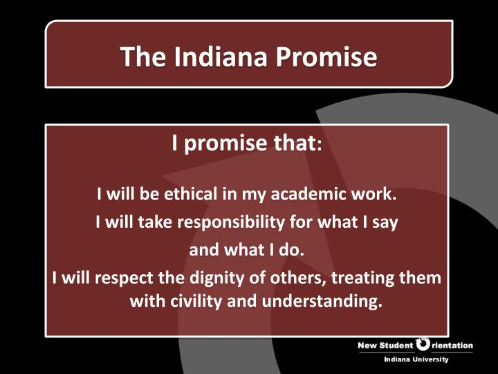The indiana promise