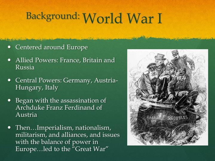 Background world war i