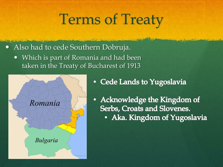 Terms of Treaty