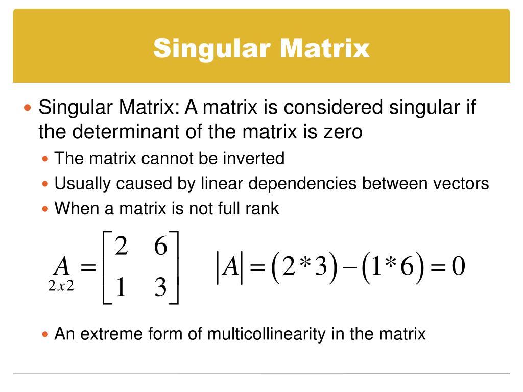 Singular Matrix