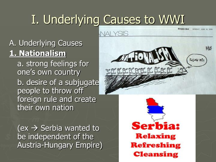 I underlying causes to wwi
