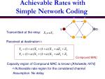 achievable rates with simple network coding