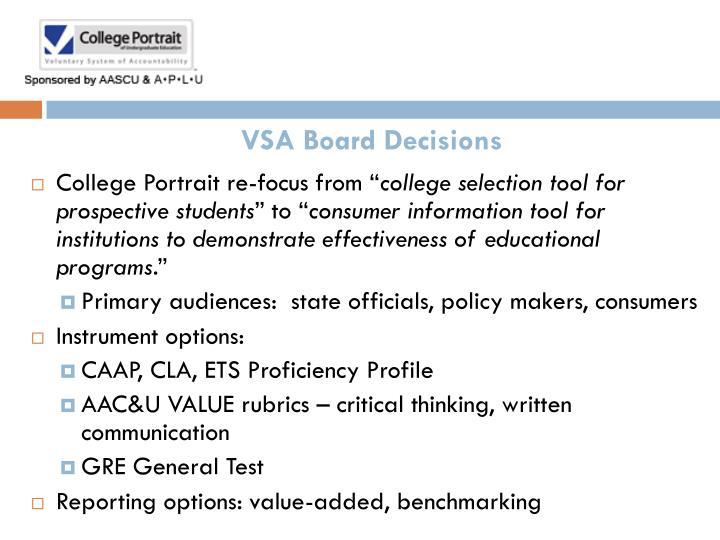 VSA Board Decisions