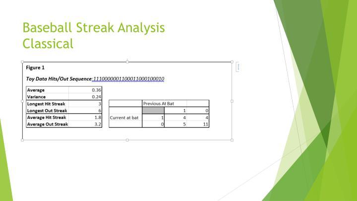 Baseball Streak Analysis