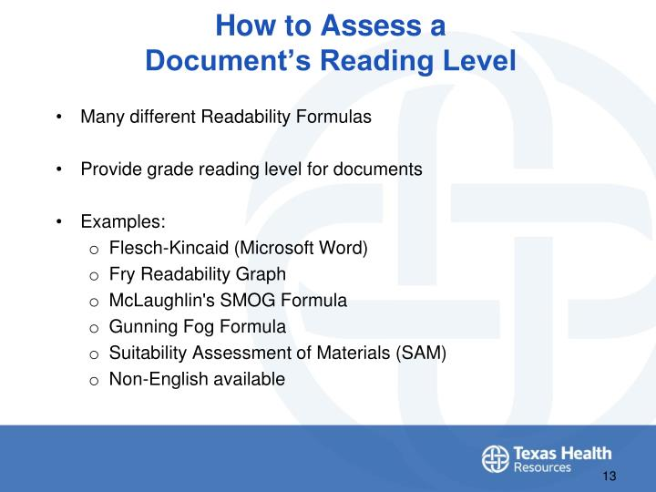 How to Assess a