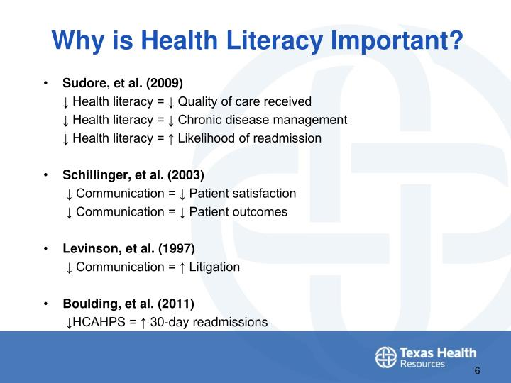 Why is Health Literacy Important?