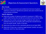 objectives assessment questions