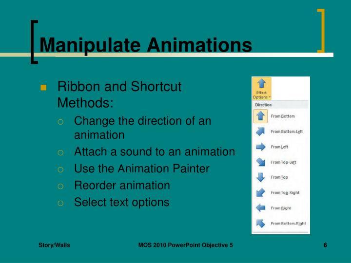 Manipulate Animations