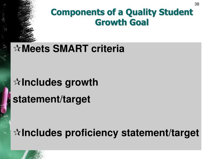 Components of a Quality Student Growth Goal