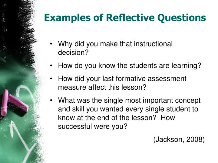 Examples of Reflective Questions