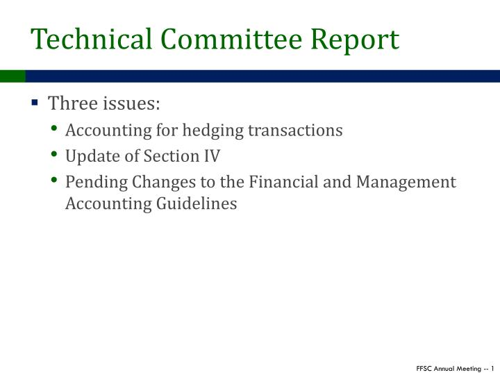 technical committee report n.