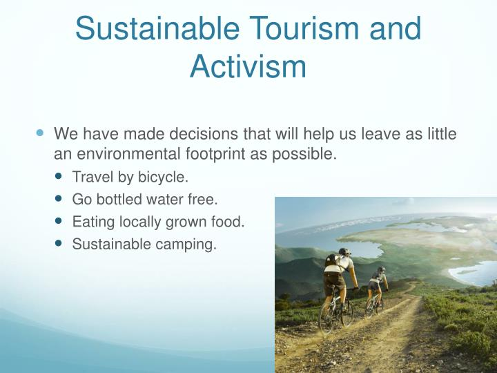 Sustainable Tourism and Activism