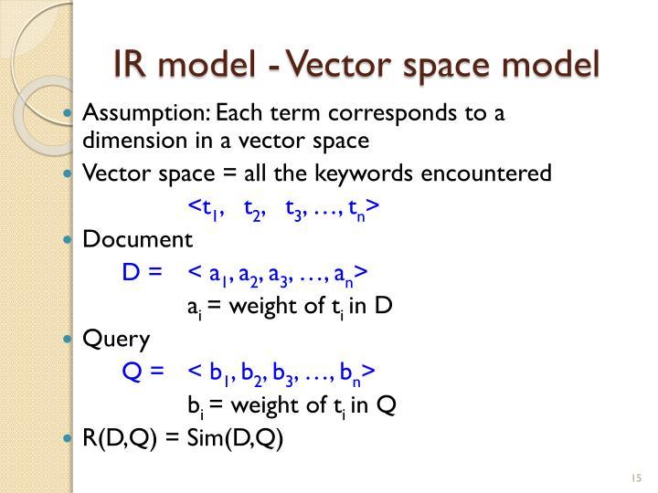 IR model - Vector space model