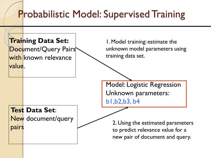 Probabilistic Model: Supervised Training