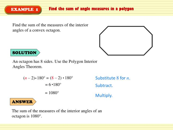 Find the sum of the measures of the interior angles of a convex octagon.