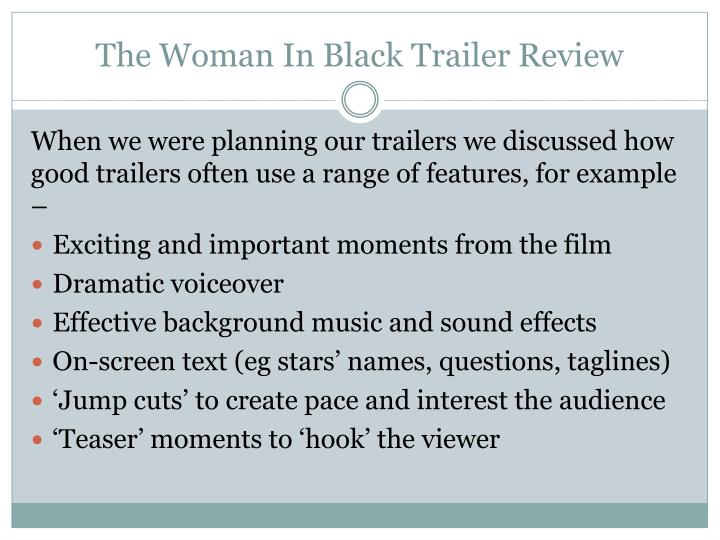 PPT - The Woman In Black Trailer Review PowerPoint
