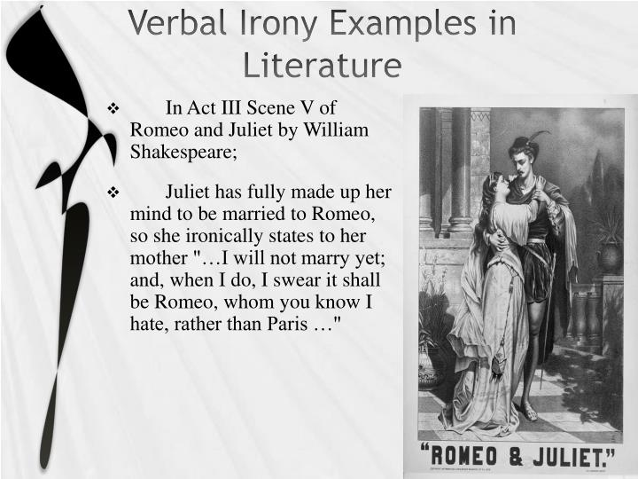 verbal irony in literature