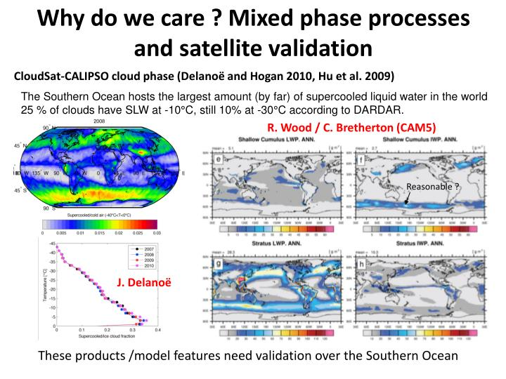 Why do we care ? Mixed phase processes and satellite validation