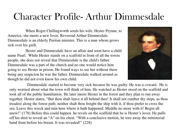 Character profile arthur dimmesdale