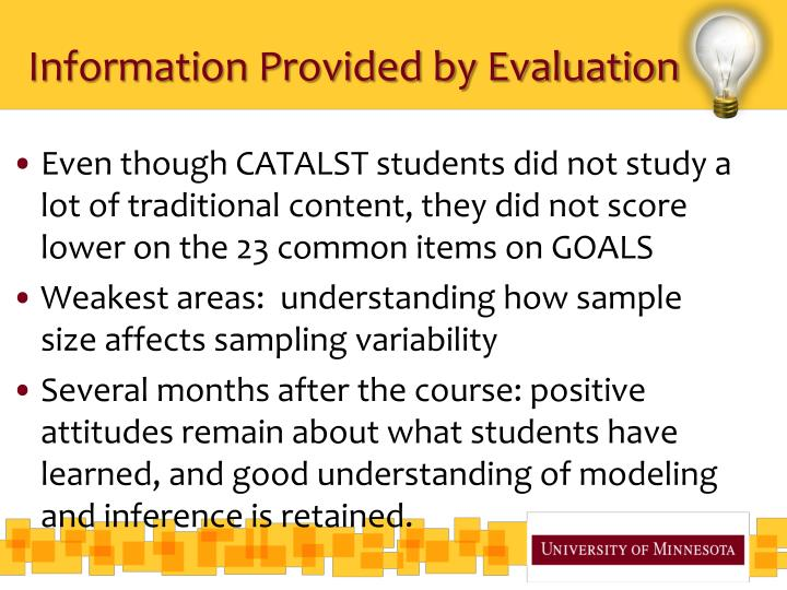 Information Provided by Evaluation