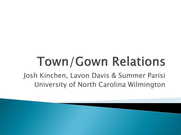 town gown relations n.