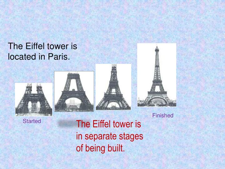 The Eiffel tower is located in Paris.