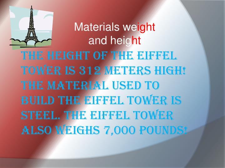 Materials we