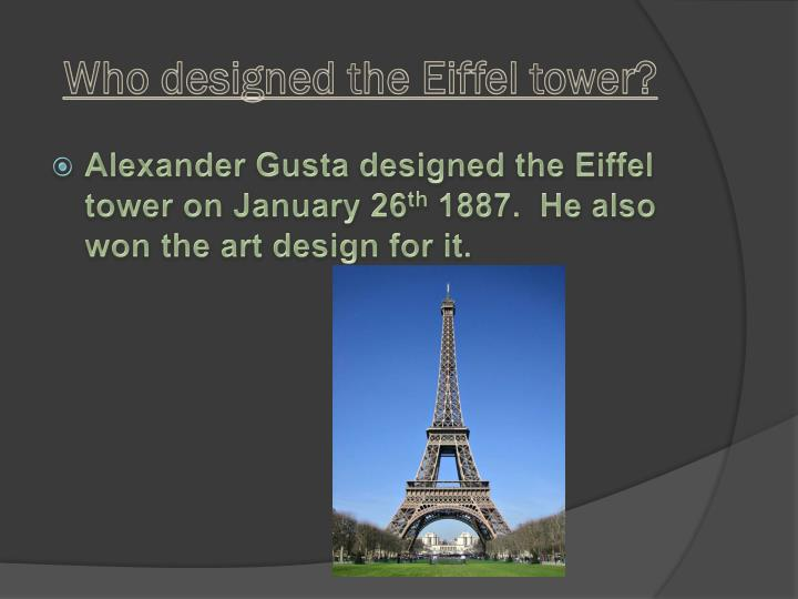 Who designed the eiffel tower