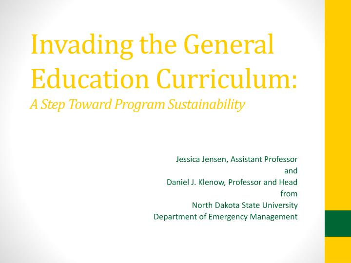 invading the general education curriculum a step toward program sustainability n.