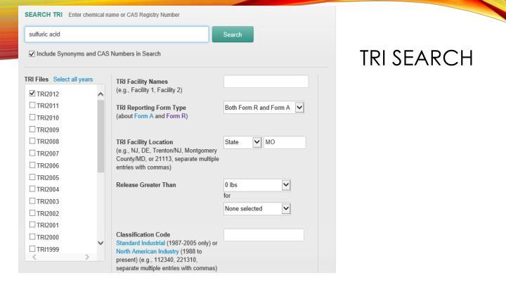 TRI Search