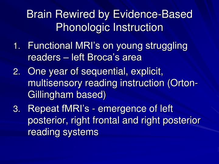 Brain Rewired by Evidence-Based