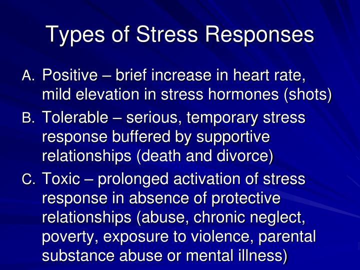 Types of Stress Responses