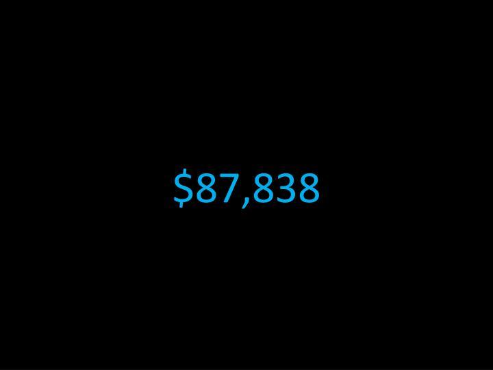 $87,838