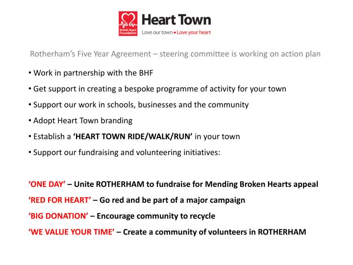 Rotherham's Five Year Agreement – steering committee is working on action plan