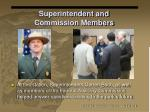 superintendent and commission members
