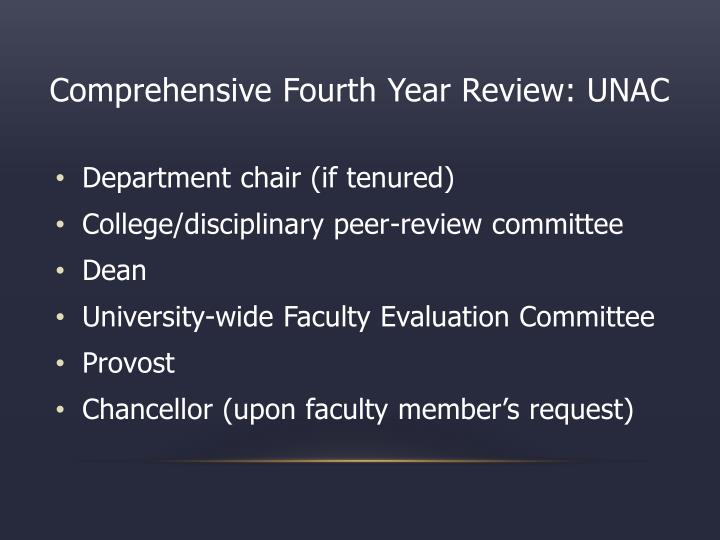 Comprehensive Fourth Year Review: