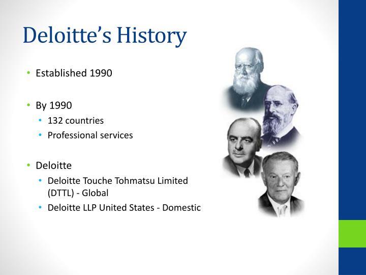 Deloitte s history