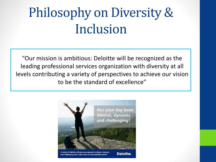 Philosophy on Diversity & Inclusion