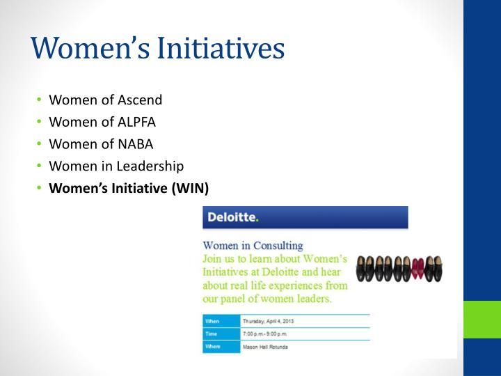 Women's Initiatives