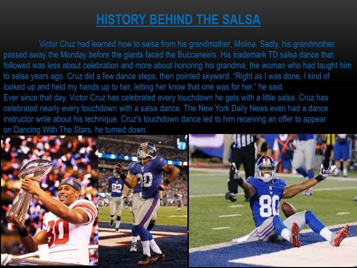 HISTORY BEHIND THE SALSA