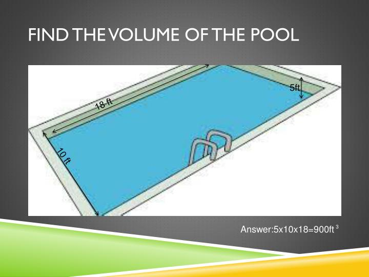 Find the volume of the pool